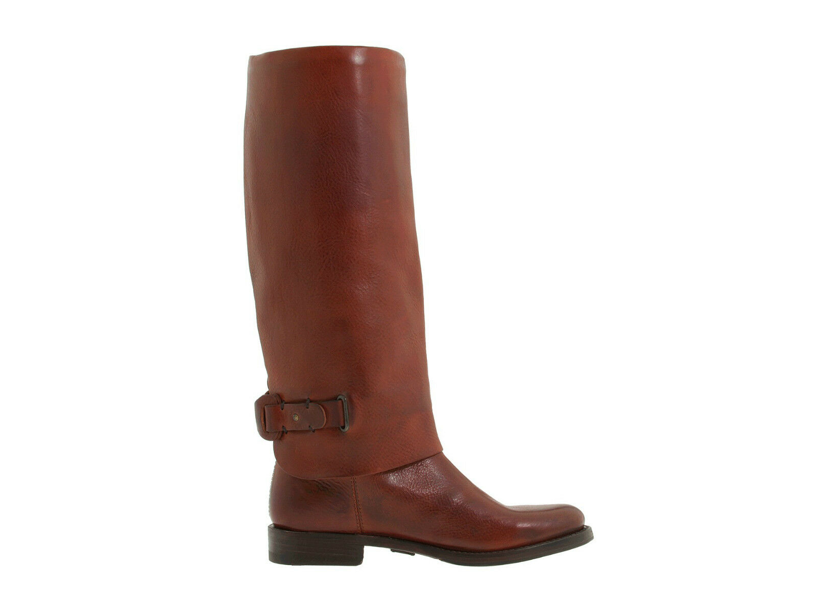 468 Frye Maxine Loop Rust Red Brown Leather Equestrian Pull On Riding Boots 5.5 3555bd