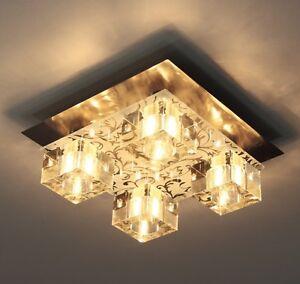 Plafonnier-Design-Moderne-Lampe-a-suspension-Lustre-Luminaire-Acier-Verre-9371