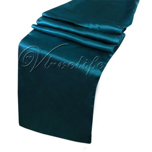 "Satin Table Runner 12"" x 108"" Wedding Decoration Supply"