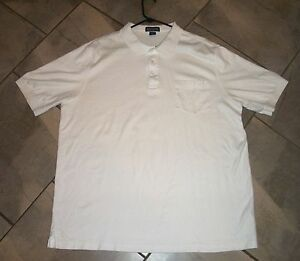1226 lands end white cotton polo shirt xxl tall 50 52 ebay