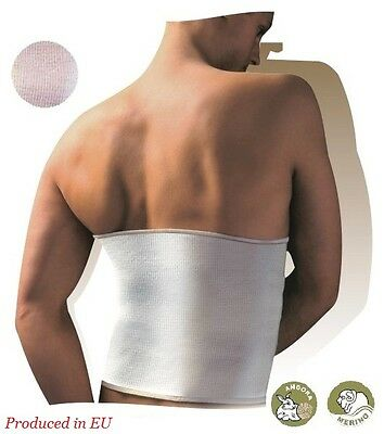 THERMAL BACK SUPPORT BELT COTTON/WOOL MEDICAL ELASTIC HERNIA KIDNEY MUSCLE PAIN