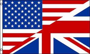 USA UK Friendship Flag 3x5 ft United States United Kingdom ...