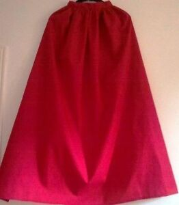 RED-COTTON-CAPE-IN-5-ADULT-LENGTHS-FANCYDRESS-SUPERHERO-HALLOWEEN-KING-QUEEN
