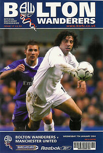 BOLTON-WANDERERS-v-MANCHESTER-UNITED-7-Jan-2004-FOOTBALL-PROGRAMME