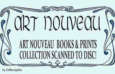 ☆ ART NOUVEAU ☆ 19x Rare Vintage Book Scans PLUS Prints on DVD-Rom Disc ☆