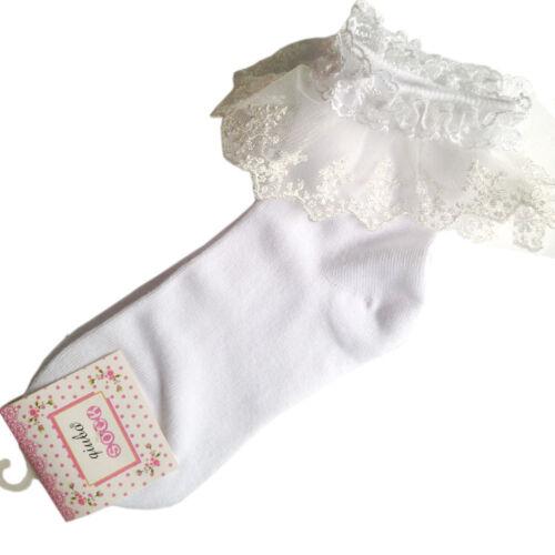 vintage encaje fruncido con volantes Tobillo Calcetines de algodón moderno