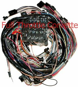 1975 corvette dash wiring harness. manual without seatbelt ... 1975 corvette wiring harness