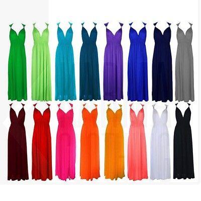 Womens Ladies Maxi Coil Long Maxi Dress All Colors