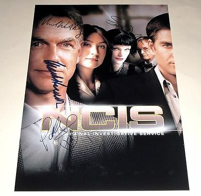 """NCIS CAST X5 PP SIGNED 12""""X8"""" POSTER N.C.I.S. M HARMON"""