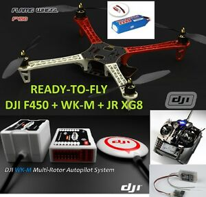 READY-TO-FLY-DJI-Wookong-M-Multi-Rotor-Autopilot-DJI-QUAD-F450-Futaba-8FG-Radio