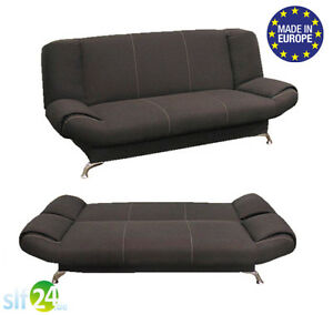 schlafsofa schlafcouch mit bettkasten bettsofa schlafsofa largo schwarz neu ebay. Black Bedroom Furniture Sets. Home Design Ideas