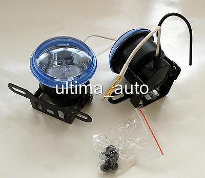 NEW 2 Universal Front Lights 12V Spot Fog Halogen Circle Lamps Car Van Bus 55w