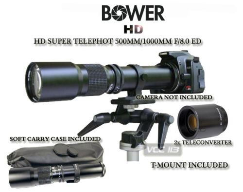 500mm/1000mm Telephoto Lens for Canon 400D XS XSi T1i XTi XSi 450D 1000D 1100D