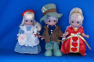 Alice Hatter Tea For Three Boxed Doll Set Disney Precious Moments Signed 5824