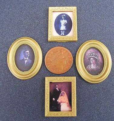 1:12 Scala 4 Foto Stampe In Fotogrammi Casa Delle Bambole Accessorio Dipinto In Miniatura-mostra Il Titolo Originale