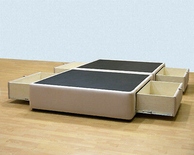 Platform Bed with storage drawers - Uphostered Storage Bed Frame Micro Fiber