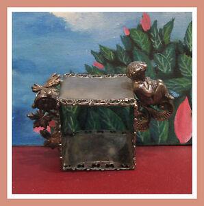 Antique-Victorian-Meriden-Britannia-Silver-Plate-Figural-Boy-Cherub-Napkin-Ring