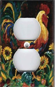ROOSTER WITH SUNFLOWERS KITCHEN HOME WALL DECOR OUTLET ...