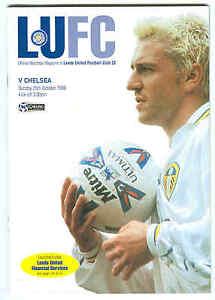Leeds Utd v Chelsea  Premiership 1998  Football Programme - London, London, United Kingdom - Leeds Utd v Chelsea  Premiership 1998  Football Programme - London, London, United Kingdom