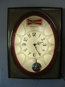 BUDWEISER-BEER-CO-VERY-OLD-WORKING-LIGHTED-CLOCK-ADVERTISING-SIGN-GREAT-SHAPE