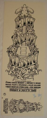 2005 String Cheese Incident & Umphrey's McGee Cuyahoga Sub Ed. Poster Jeff Wood