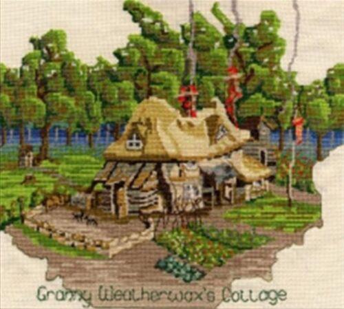 Facultad Mundodisco Cross Stitch Kits Grannys Cottage rincewind 14s Aida