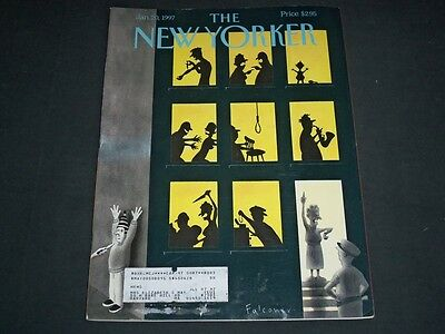 1997 JANUARY 20 NEW YORKER MAGAZINE - BEAUTIFUL FRONT COVER FOR FRAMING - D 322