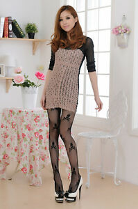 2012-New-Black-Sexy-Woman-SKULL-Pattern-Jacquard-Pantyhose-Tights-Stockings