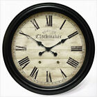 Infinity Instruments Chester Clockmaker - Large Metal Wall Clock