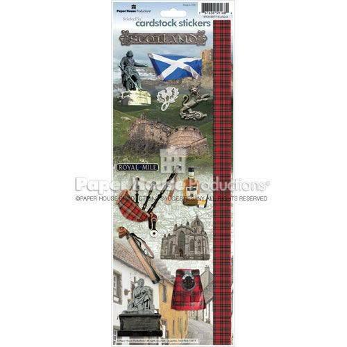 PAPER HOUSE SCOTLAND TRAVEL VACATION CARDSTOCK SCRAPBOOK STICKERS