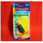 Trisonic SVHS S-Video Male to RCA Female Gold Adapter 4Pin S-VHS (SNV103G) Audio Cable