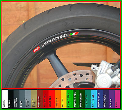 8 x Aprilia Shiver Wheel Rim Decals Stickers - sl 750 sl750 abs
