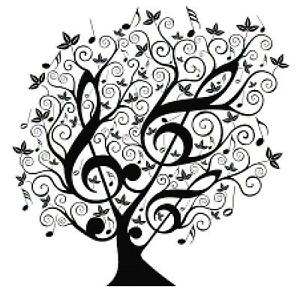 Music-Counted-Cross-Stitch-Pattern-Design-Black-and-White-Treble-Clef-Tree