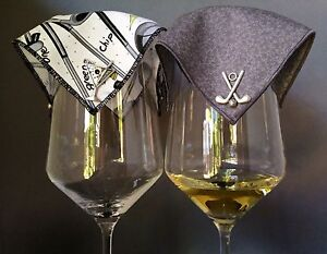 VelaVino-Wine-Glass-Covers-034-Up-To-Par-034-Collection-FREE-SHIPPING
