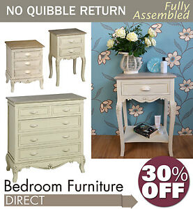 Shabby Chic French Country Style Furniture Chest Bedside