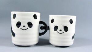 valentine mugs panda couple hand in hand ceramic