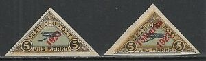 Estland stamps 1923 MI 41-42 MLH VF