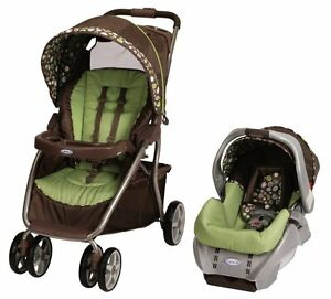 Graco-Dynamo-Lite-Baby-Stroller-amp-SnugRide-Car-Seat-Travel-System-Shout