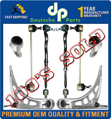 CONTROL ARMS BALL JOINT JOINTS Tie Rod RODS Sway Bar Link BUSHING 8 for BMW E46