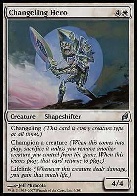 4x Changeling Hero Lorwyn MtG Magic White Uncommon 4 x4 Card Cards