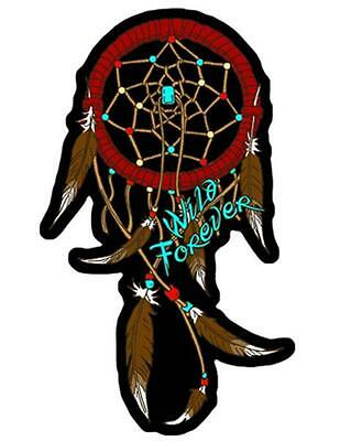 WILD FOREVER DREAM CATCHER  EMBROIDERED PATCH P5340 iron on sew biker patches