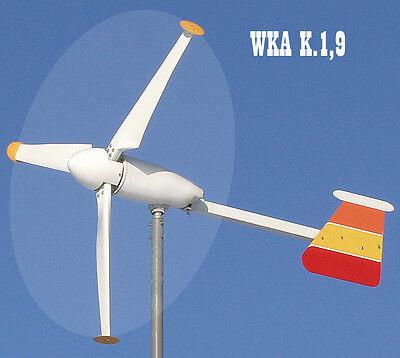 Windkraft-Anlage 24 Volt, 350 Watt .   Oder 12 Volt, 160 Watt  (Für Schwachwind)