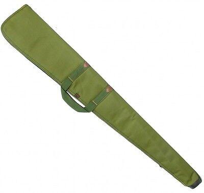 AKAH SHOTGUN CASE GUN SLIP BAG GREEN PADDED SHOOTING CANVAS STRAP CASE LINED UK