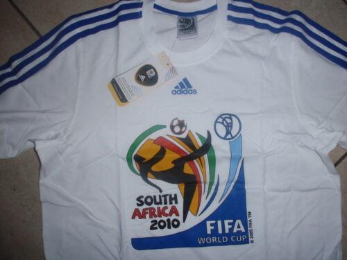 ADIDAS Nuova T-Shirt WM 2010 Welcome to South Africa Taglia S Bianco