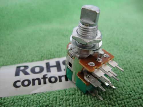 Panel PCB Mount Dual Step B50K Moon D-Shaft 6mm Switch Rotary Potentiometer,P010
