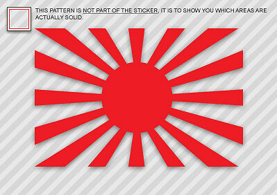 (2) Rising Sun Flag Sticker Decal Imperial Japanese