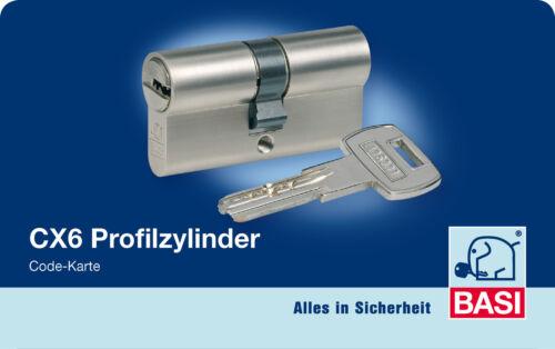 Sicherheitszylinder 6 Sperrstifte Schließzylinder Profilzylinder Doppel Basi CX6