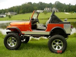 "1976 Jeep Cj5 For Sale AWESOME JEEP CJ7 6"" Rocker Guards Diamond plate Rocker ..."