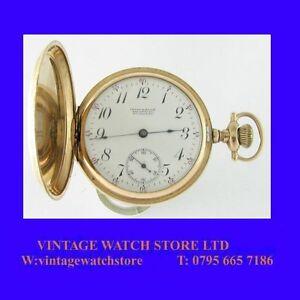 Rare-14k-Gold-Waltham-15-Jewel-Private-Label-Two-Tone-Hunter-Pocket-Watch-1905