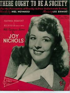 There-Ought-To-Be-A-Society-Joy-Nichols-Sheet-Music